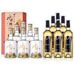 52°水井坊·三国系列(义勇仁)500ml*6+西班牙拉伊尔半甜白葡萄酒750ml*6