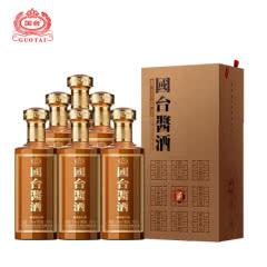 53°贵州茅台镇国台酱酒纯粮酿造  坤沙工艺 酱香型白酒 500ml*6整箱装