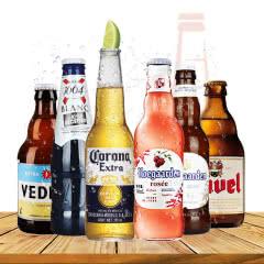 比利时进口白熊督威精酿啤酒+福佳+科罗娜+法国1664啤酒6瓶组合装
