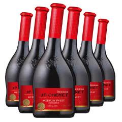法国进口 香奈J. P. Chenet 甜蜜系列 半甜型红葡萄酒 750ml*6整箱装