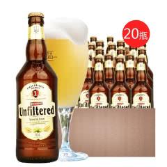 欧洲乌克兰原装进口啤酒 堡禧科白啤酒精酿白啤酒500ML*20瓶