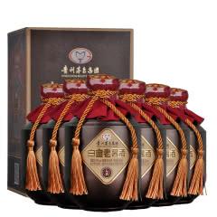 53度贵州茅台集团白金酒 白金老酱酒礼宾500ml*6瓶 酱香型白酒 整箱收藏送礼礼盒