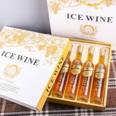 【礼盒】加拿大进口朵雅冰白葡萄酒低度冰酒女士甜型葡萄酒375ml*6