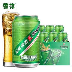 雪花出品金威啤酒330ml*6瓶装8度绿罐