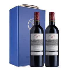 法国拉菲传奇2017年波尔多干红葡萄酒750ml*2(DBR行货)(双支红酒礼盒)