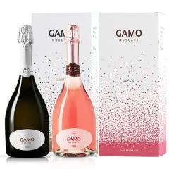 意大利原瓶进口红酒卡摩莫斯卡托甜白桃红起泡酒组合750ml*2