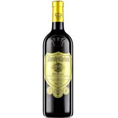 法国原酒进口红酒珍酿浮雕款重型瓶金标干红葡萄酒750ml单瓶装