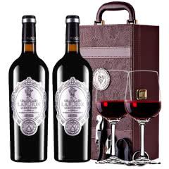 法国进口红酒拉斐天使酒园干红葡萄酒双支红酒礼盒装 750ml*2