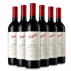 澳大利亚原瓶进口红酒 Penfolds 奔富BIN2设拉子玛塔罗干红葡萄酒 750ml*6