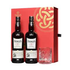 帝王 二次陈酿威士忌12年调配苏格兰威士忌 新年礼盒双瓶装