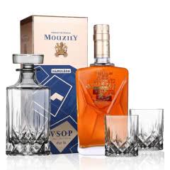 【赠洋酒酒具 一樽两杯】40°法国原瓶进口穆泽拿破仑头道vsop白兰地洋酒700ml