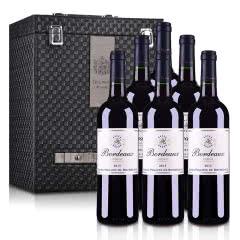 法国菲利普罗斯柴尔德男爵波尔多红葡萄酒750ml*6(六支装红酒礼盒)