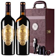法国进口红酒拉斐天使庄园干红葡萄酒红酒两支礼盒装750ml*2