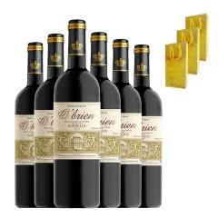 法国原瓶原装进口红酒 法定产区波尔多AOP级干红葡萄酒750ml*6