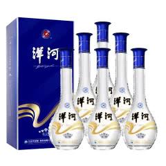 52°洋河 晶之藏 蓝色经典卡盒 口感绵柔型高度白酒整箱装500ml6瓶 内含三支礼袋