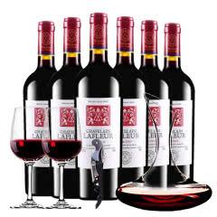法国原酒进口红酒干红葡萄酒拉斐庄园特藏2003干红葡萄酒醒酒器装 750ml*6