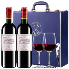 【正品行货拉菲】法国原瓶进口红酒拉菲珍酿波尔多干红葡萄酒红酒礼盒装750ml*2