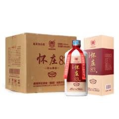 53度怀庄酒 怀庄83 酱香型白酒 纯粮固态酿造500ml*6整箱装