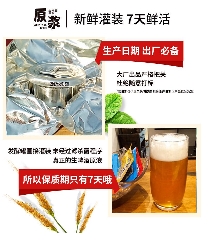 青岛啤酒原浆啤酒生啤原液麦芽汁钢瓶整箱1l*6