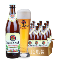 德国进口啤酒柏龙保拉纳小麦王白啤酒500ml(12瓶装)