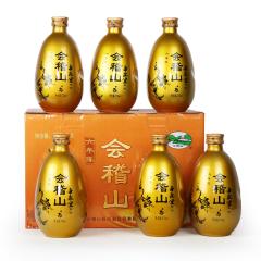 绍兴黄酒会稽山六年帝聚堂花雕酒 整箱礼盒 375mlx6瓶