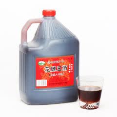 绍兴黄酒 吴越稽山库藏八年陈花雕王 桶装5L自饮月子酒糯米酒