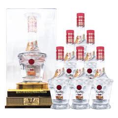 52°天下酒仓典藏水晶盒白酒整箱浓香型粮食酒500ml*6瓶礼盒装送礼