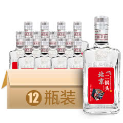 42°北京二锅头清香型白酒(红)500ml*12瓶 整箱装