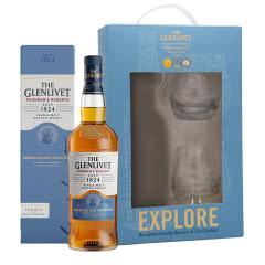 40°英国格兰威特单一麦芽苏格兰威士忌创始人甄选系列700ml单支礼盒(内含酒杯*2)