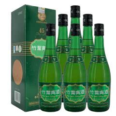 老酒 竹叶青酒45度 盒装 2011年 475ml x6瓶