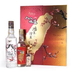 台湾八八坑道高粱酒鸿运双开台湾白酒礼盒500ml+300ml