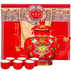 53°山西汾酒产地纯粮酒鸿福礼盒装酒水送礼1L【买即享红色酒杯六个,喝完酒可以作茶壶喝茶】
