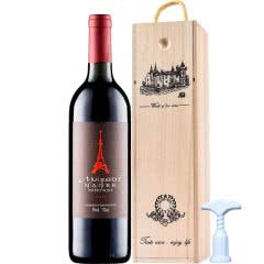 甜型红酒葡萄酒名峪精选甜红葡萄酒750ml(红酒木质礼盒)