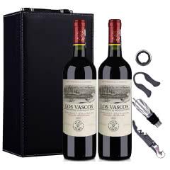 智利拉菲集团巴斯克精选红葡萄酒750ml*2(双支皮盒套装)