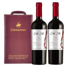 【双支礼盒】智利进口中央山谷产区智利星佳美娜干红葡萄酒750MLX2