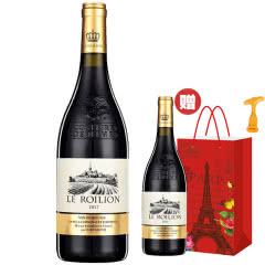 【买一得二】法国(原瓶)进口红酒14度圣斯塔菲老藤珍酿干红葡萄酒大肚浮雕重型瓶750ml