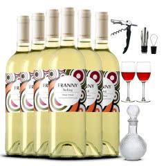 法国进口干白维莎雷司令干白葡萄酒750ml*6(酒具套装)