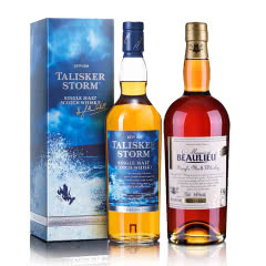45.8°泰斯卡风暴系列单一麦芽苏格兰威士忌 700ml+44°法圣古堡侯爵世家单一麦芽威士忌700ml