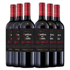 智利原装进口红酒干露红魔鬼黑金珍藏红葡萄酒750ml*6支装