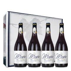 法国原酒进口13°老藤干红葡萄酒AOP级750ml*4瓶礼盒装