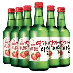 13度韩国进口真露草莓味利口酒360ml(6瓶)