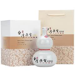 52°台湾玉山高粱酒原窖十二年陈高葫芦瓶台湾原装进口纯粮食清香型白酒礼盒装500ml