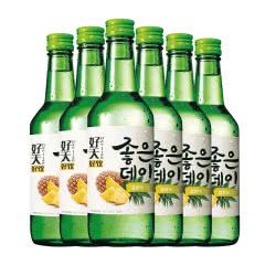 13.5度韩国原瓶进口好天好饮烧酒菠萝味360ml(6瓶)
