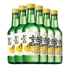 13.5度韩国原瓶进口好天好饮烧酒柚子味360(6瓶)