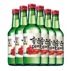 13.5度韩国原瓶进口好天好饮烧酒石榴味360ml(6瓶)