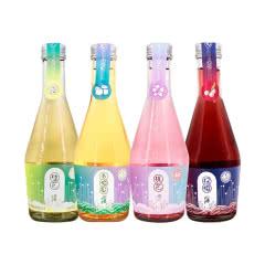 雪兰山果酒青梅/桃花/桂花/杨梅低度果酒200ml四种口味各一瓶