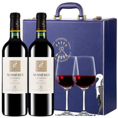 【正品行货拉菲】法国原瓶进口红酒奥西耶白鹭干红葡萄酒红酒礼盒装750ml*2