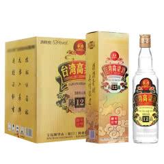 53°宝岛阿里山台湾高粱酒陈高12清香型白酒600ml*6瓶整箱装