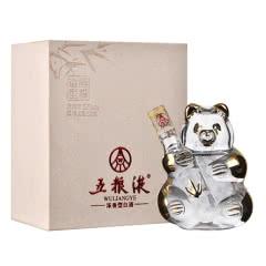 52°五粮液 熊猫酒浓香型白酒礼盒装50ml 单瓶装