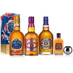 40°英国芝华士苏格兰威士忌500ml(12年+13年+18年)+40°英国芝华士12年苏格兰威士忌200ml+芝华士球形冰酒石